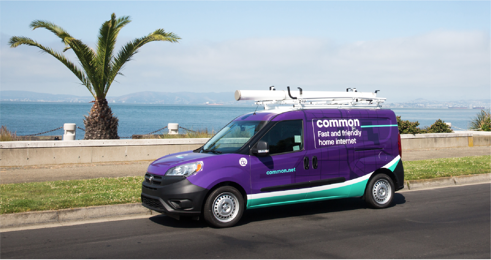 Photograph of Common van in front of Bay